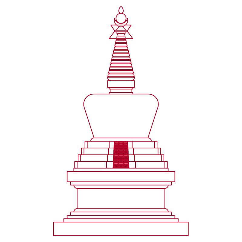Stupa of the descent from God realms